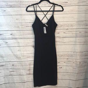 NWT Love culture slinky black sheath dress (J12
